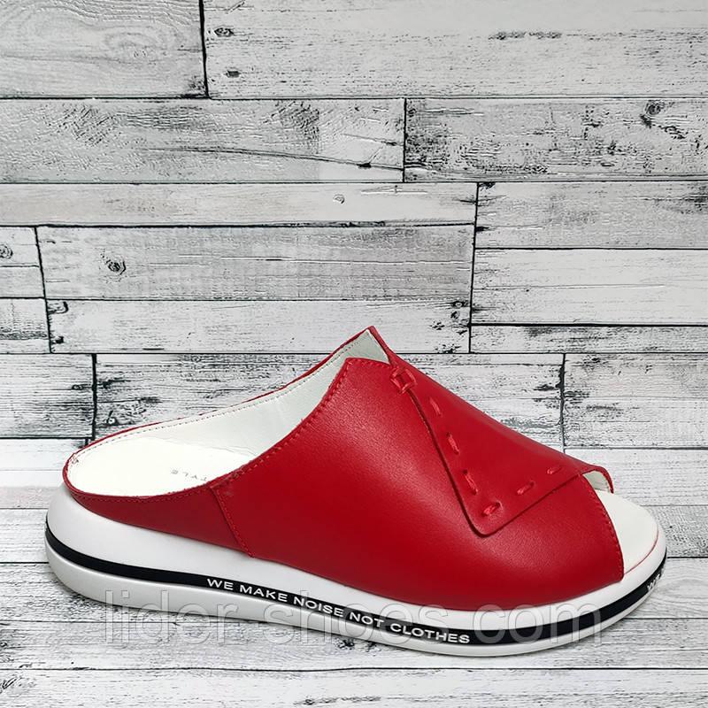 Сабо женские красного цвета