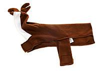R3-270137, Зимняя одежда для собак олень, универсальное, белый-коричневый