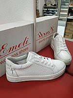 Кроссовки белые подростковые (для девочки) с перфорацией, фото 1