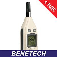 Измеритель влажности и температуры (термогигрометр) цифровой 0-100%, -30-70°C BENETECH GM1362, фото 1
