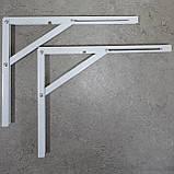 Консоль откидная 400 мм. белая, для раскладного стола., фото 3