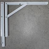 Консоль откидная 400 мм. белая, для раскладного стола., фото 4