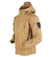 Куртка тактическая SoftShell Esdy Песочная