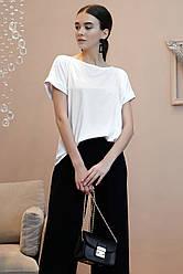Блуза женская белая свободная вискоза