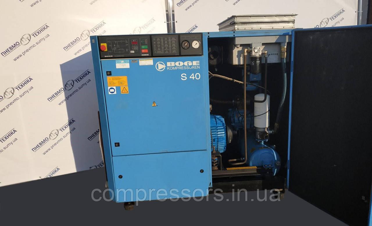 Винтовой компрессор Boge S40 - 5050 л/мин - 8 бар - 30 кВт - бу из Германии, фото 2