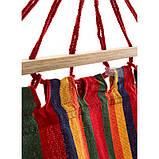 Гамак мексиканский подвесной с деревянной планкой 200x80 см.Лежак с перекладиной,тканевый,для дома,дачи,сада, фото 4