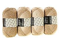 M7-330049, Нитки для вязания, 4 х 50 г, , светло коричневый-бежевый