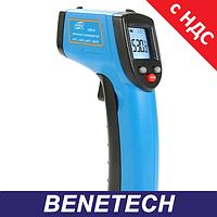 Безконтактний інфрачервоний термометр (пірометр) -50-530°C, 12:1, EMS=0,1-1, фото 1