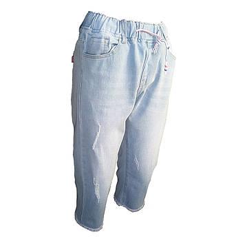 Бриджи женские джинсовые в спортивном стиле размеры  48