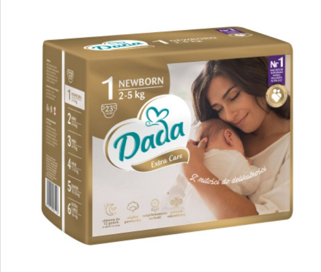 ПОДГУЗНИКИ Dada Extra Kea  №1 (2-5 кг) 23 шт.