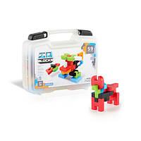 Конструктор пластик-пазлы Guidecraft IO Blocks Дорожный набор в пластиковом кейсе 59 деталей