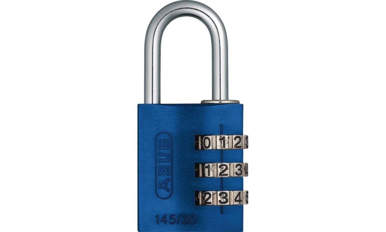 Замок навісний ABUS 145/30 Combination Lock Blue, фото 2