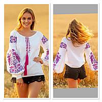 Жіноча біла вишиванка з натуральної тканини, вишивка хрестиком! 580/650 грн (ціна за 1 шт +70 грн)