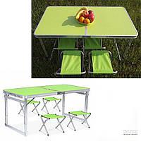 Стол раскладной + 4 стула Folding table (N0.4) Зеленый