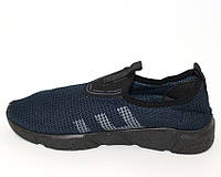 Стрейчевые мужские слипоны, мужские кроссовки сеткой, фото 1