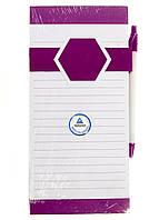 M18-470836, Блокнот-магнит на холодильник, , белый-фиолетовый