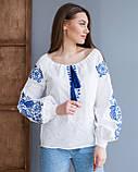 Жіноча біла вишиванка з натуральної тканини, вишивка хрестиком! 600/750 грн (ціна за 1 шт +150 грн), фото 8