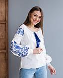 Жіноча біла вишиванка з натуральної тканини, вишивка хрестиком! 600/750 грн (ціна за 1 шт +150 грн), фото 9