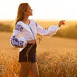 Жіноча біла вишиванка з натуральної тканини, вишивка хрестиком! 600/750 грн (ціна за 1 шт +150 грн), фото 6