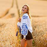 Жіноча біла вишиванка з натуральної тканини, вишивка хрестиком! 600/750 грн (ціна за 1 шт +150 грн), фото 3