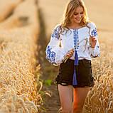 Жіноча біла вишиванка з натуральної тканини, вишивка хрестиком! 600/750 грн (ціна за 1 шт +150 грн), фото 2