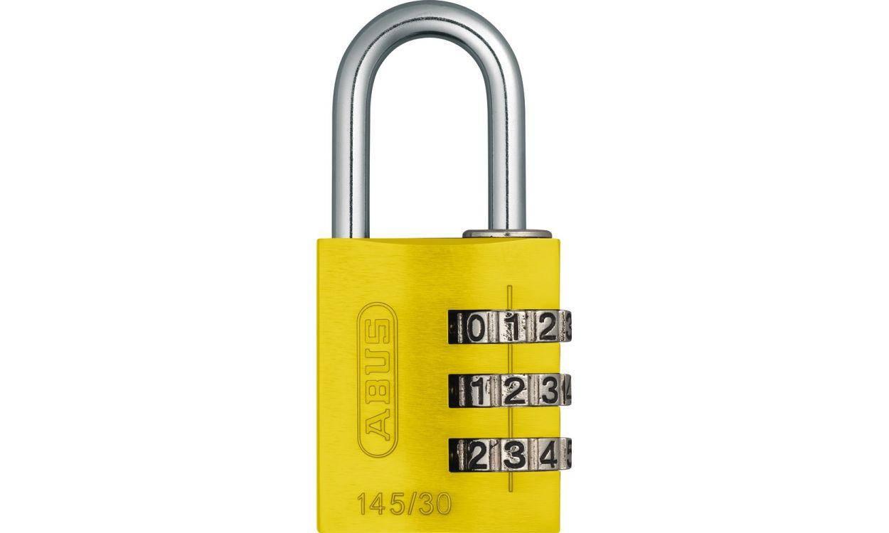 Замок навісний ABUS 145/30 Combination Lock Yellow, фото 2