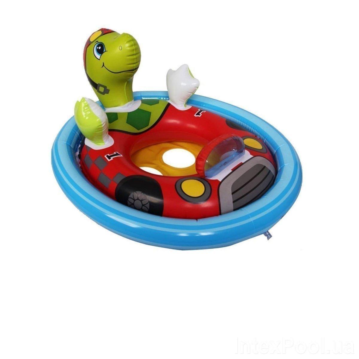 Детский надувной плавательный круг для плавания детей с ножками игрушка Черепаха Intex 59570 76х58см