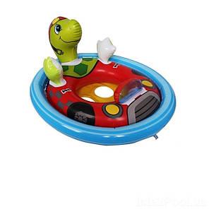 Детский надувной плавательный круг для плавания детей с ножками игрушка Черепаха Intex 59570 76х58см, фото 2