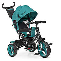 Детский трехколесный велосипед TURBO TRIKE M 3113-4-1 Зеленый | Велосипед-коляска Турбо Трайк