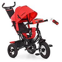Детский трехколесный велосипед TURBO TRIKE M 3115-3HA Красный | Велосипед-коляска Турбо Трайк музыка USB/BT
