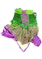 """R3-380051, Карнавальный женский костюм """"Фея"""" зеленый-розовый"""