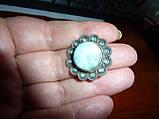 Перстень з великим ларимаром і опалами, фото 5