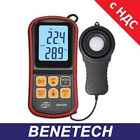 Люксметр - измеритель уровня освещенности (Люксметр)+термометр, USB, Bluetooth BENETECH GM1030