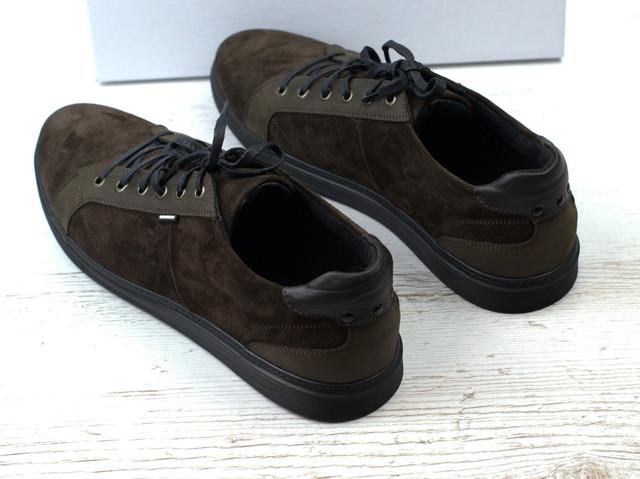 Коричневые кроссовки замшевые кеды мужская обувь больших размеров Rosso Avangard Puran Brown Vel BS