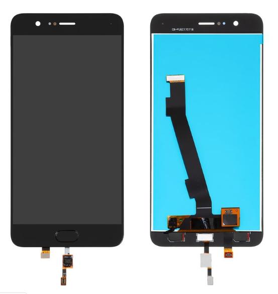 Дисплей (экран) для Xiaomi Mi Note 3 сенсором (тачскрином) черный с шлейфом сканера отпечатка пальца