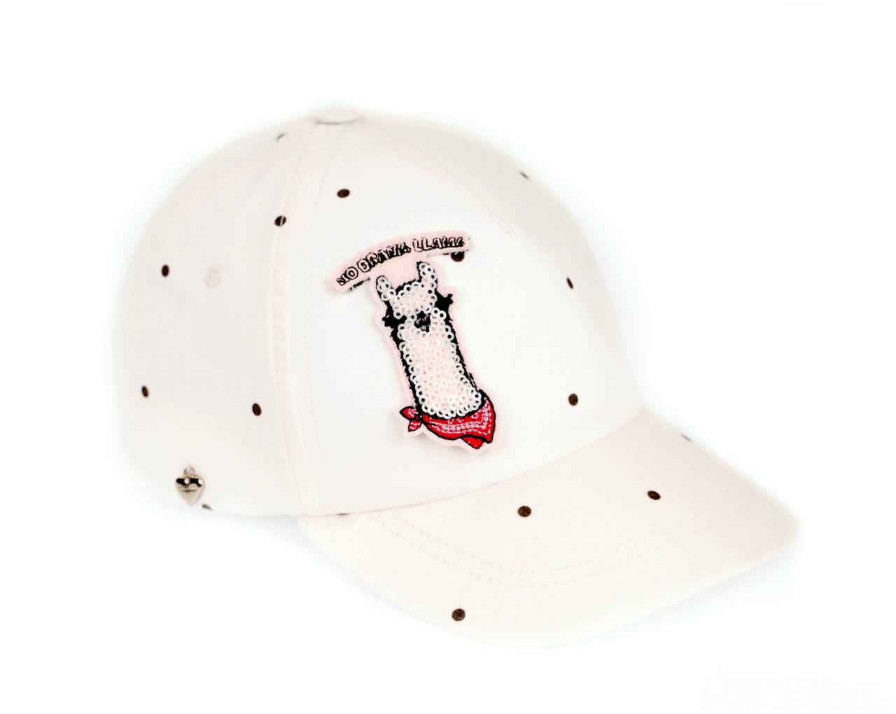 Бейсболка  для девочек  белая GIAMO  (р. 46-52)   SAG6
