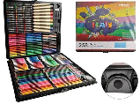 Большой художественный набор для рисования в чемоданчике Colorful Italy 258 предметов, фото 2