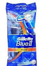 Набор одноразовых бритвенных станков Gillette Blue2 plus. В упаковке 10 станков. Оригинал GIL /8-04