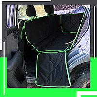 Автогамак для собак, авто чехол со съемными бортами для перевозки собаки в машине, Low-cost black/green