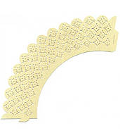 Накладка бумажная декоративная ажурная для маффинов разных цветов (уп 20 шт) (E0381)