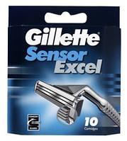 Бритвенные лезвия Gillette Sensor Excel. В упаковке 10шт. Оригинал GIL /42-9 N