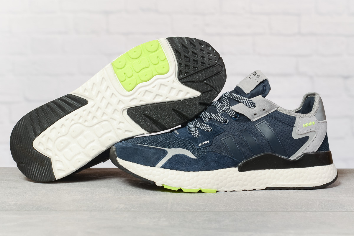 Кроссовки мужские 17294, Adidas Nite Jogger , темно-синие, < 41 42 43 44 45 46 > р. 41-25,2см.
