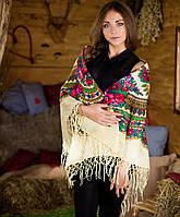 Украинский платок (125х125см, шампань), фото 1