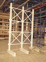 монтаж консольных стеллажей