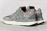 Кросівки чоловічі 17299, Adidas 3M, темно-сірі, < 41 42 43 44 45 > р. 41-25,2 див., фото 4
