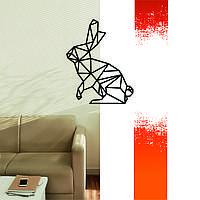 """Декоративная деревянная картина абстрактная модульная полигональная панно """"Rabbit / Зайчик"""""""