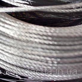 Трос стальной оцинкованный 4мм (бухта 100 м. п.)