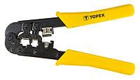 Клещи TOPEX для обжима телефонных наконечников 185 мм (32D408)