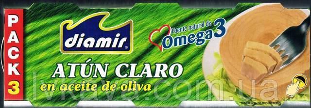 Тунец Atun Claro в оливковом масле   Diamir, 3 х 80 гр, фото 2