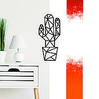 """""""Кактус"""" декоративна дерев'яна картина абстрактна модульна полігональна Панно """"Cactus"""""""